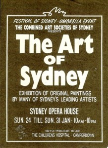 Festival of Sydney, Combined Arts Societies, Sydney Opera House, 1993