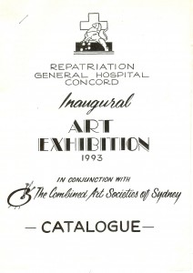 Invitation of Inaugural Group Art Exhibition 1993 in conjuntion with the Combined Art Societies, repatriation Generral Hospital Concord