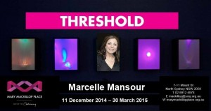 Marcelle Mansour Invitation to Threshold Art Exhibition at Mary MacKillop Musum