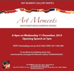 Art Moment Group Mixed Media Art Exhibition, Marcelle Mansour 11 Dec 2013