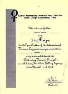 Marcelle-Mansour-won-2nd-Prize-Sydney-International-Womens-Day-Collective-Poster-Design-Competition-1993-217x300