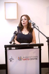 Marcelle Mansour's Artist's Talk of Threshold Art of Light and Perception t Baankstown Arts Centre 2nd April 2014