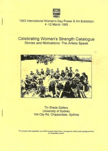 Marcelle Mansour, Celebrating Women's Strength, Tin Sheds Gallery Mar 4 -13 1993