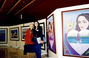 Marcelle Mansour @ Shifting Waves Art Exhibition & Book launch at the NSW Parliament 1998