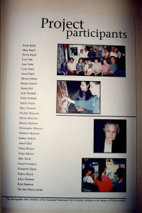 Project Participants of Australian Palestinians by Community Visual Artist Marcelle Mansour 1996/7