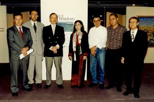 Marcelle Mansour 's Images of Wisdom Art Exhibiion at the Australian Museum 1997, with the Hon Jim Samios