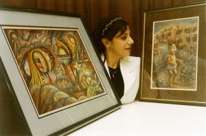 Marcelle Mansour's Art Exhibition at National Refugee Week, Oct 1997, Austcare