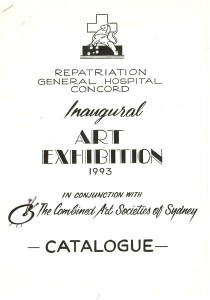 1993 Marcelle Mansour, participating at Repatriation General Hospital Concord, Inaugural Art Exhibition 1993, In conjunction with the Combined Art Societies in Sydney