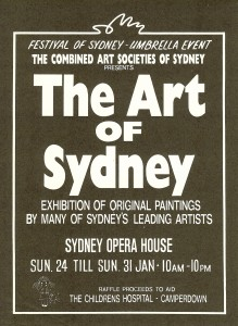 Macelle Mansour, Sydney Opera House, Group Exhibition, The Arts of Sydney, Combined Arts Societies, 1993