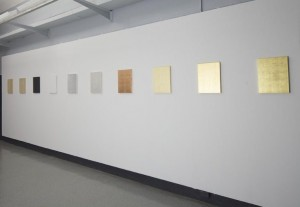 Marcelle Mansour. Light in Spiritual Monochrome. Gold Leaf. Delmar Gallery 2012