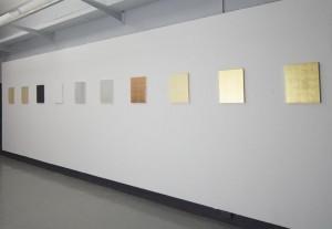 Marcelle Mansour. Light in Spiritual Monochrome. Gold Leaf. Delmar Gallery 2012