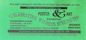 Invitation to attend the Opening of the 1993 International Women's Day