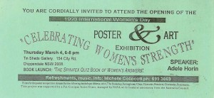 Invitation to attend the Opening of the International Women's Day, 1993