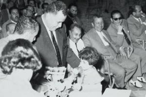 Marcelle Mansour received the Top Student Prize in Gaza, Palestine by the Governor-General, Youssef Abdullah al-Agroundi in 1961