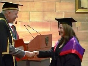 Marcelle Mansour's Award of Master of Fine Arts (MFA) (2012-2013), The University of Sydney, Graduation Ceremony on 5th of May 2014