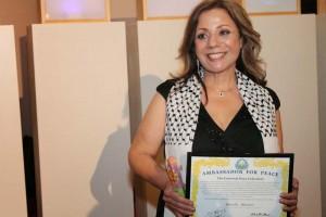Marcelle Mansour's Award of Universal Ambassador for Peace (UPF) and International Year of Light (IYL) (UNESCO) Australia 2015