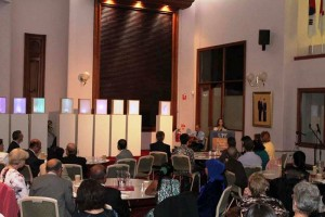 Marcelle Mansour's Exhibition and Screen Presentation of the Power of LArt and Light in promoting World Peace, at the UPF Embassy 6 April 2015
