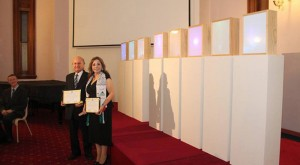 Marcelle and Maurice Mansour receive the Ambassador of Peace (UPF) Award