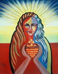 Marcelle Mansour © 1994. Psalm 30: Verse 2, Pastel on Canson board, Painting 120cmx80cm