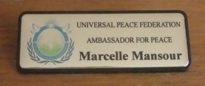 Universal Peace Federation Ambassador For Peace Marcelle Mansour