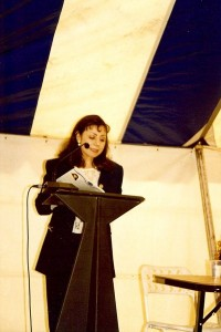 Marcelle Mansour reading her own poetry at the Wrter Centre, Rozelle,1998