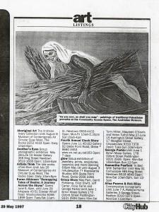 Marcelle Mansour's Images of Wisdom, Australian Musum 1997, - Copy - Copy
