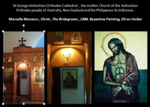 1 Christ The Bridegroom. Marcelle Mansour©1986, Byzantine Oil Painting