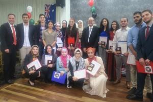 3 تقديم الجوائز التقديرية لخريجيي الثانوية العامة والماجستير والدكتوراه