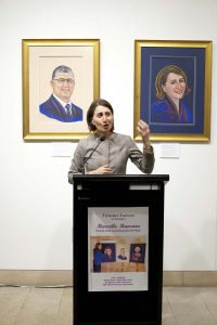 Treasure Forever Solo Art Exhibition by Marcelle Mansour at Artspace on the Concourse on 7 December 2016 Speaker The Hon. Gladys Berejiklian NSW Treasurer